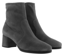 Boots Stretch Suede Booties Nebbia grau