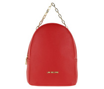Rucksack Smooth Pu Backpack Rosso rot