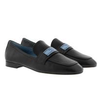 Glacé Moccasins Calf Leather Black Schuhe