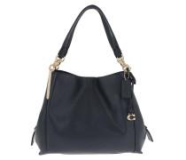 Tote Polished Pebble Leather Dalton Shoulder Bag Blue