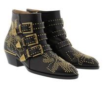 Susanna Nappa Boots Black/Gold Schuhe