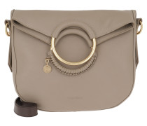 Tote Hana Shoulder Bag Leather Motty Grey beige