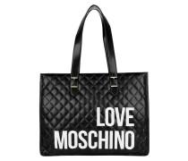 Shopper Logo Quilted Shopping Bag Nero