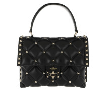 Satchel Bag Candystud Shoulder Bag Leather Black schwarz