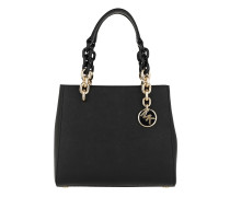 Cynthia SM NS Convertible Satchel Bag Black Tote