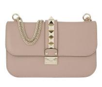 Rockstud Lock Crossbody Bag Medium Leather Poudre Tasche