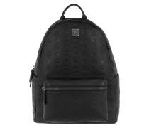 Ottomar Monogrammed Leather Backpack Medium Black Rucksack