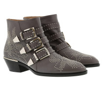 Susanna Leather Studs Boots Grey/Silver Schuhe
