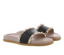 Thong Scuff Slides Poudre/Nero Sandalen rosa