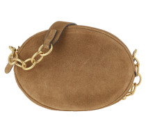 Suede Gilly Crossbody Bag Medium Snuff Tasche