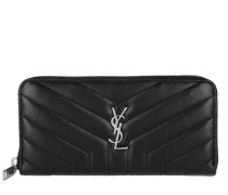LouLou Zip Around Wallet Y-Quilting Black