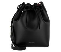 Beuteltasche Mini Bucket Bag Black Flamma schwarz