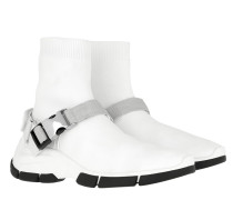 Sneakers Fabric Buckle High-Top Sneakers White/White weiß