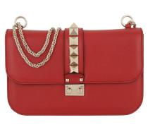Rockstud Lock Crossbody Bag Medium Red Tasche