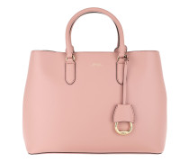Dryden Satchel Bag Smooth Leather Rose Smoke/Porcini Tote rosa