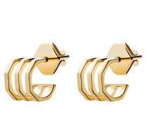 Ohrringe Ponti Studs Vermeil Polished Gold
