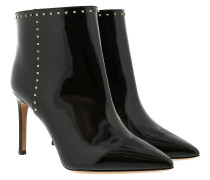 Rockstud Ankle Boot Patent Leather Black Schuhe
