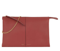 Tri-Fold Clutch On Chain Dark Claycourt