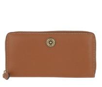 Millbrook Wallet Pebbled Leather Lauren Tan/Orange