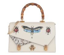 Ottilia Insects Handle Bag Leather White Tasche
