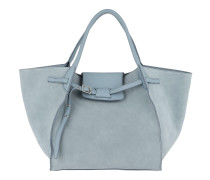 Medium Big Bag Soft Calfskin Medium Blue Tote