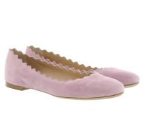 Lauren Ballet Flat Suede Purple Ballerinas
