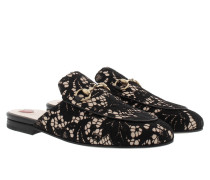 Princetown Slipper Black Lace Schuhe