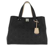 Essential Monogrammed Leather Tote Large Black Tote