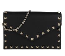 Rockstud Envelope Shoulder Bag Leather Black Tasche