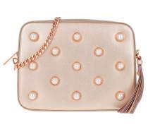 Alessia Pearl Embellishment Camera Bag Rosegold