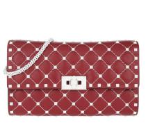 Rockstud Spike Clutch White Studs Red Tasche