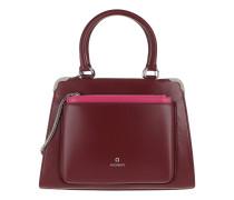 Amber S Handbag Burgundy Satchel Bag