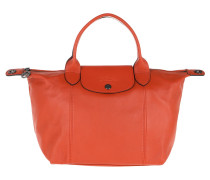 Tote Le Pliage S Leather Rust rot
