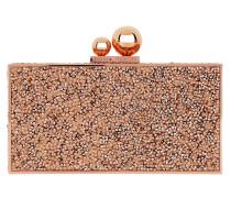 Clara Crystal Box Bag Rose Gold Clutch
