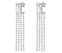 Schmuck Bold Star Logo Long Fringe Earrings Multicolour silber