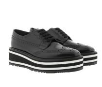 Platform Sneakers Leather Black Sneakers