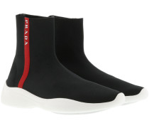 Sneakers Knitted Sock Sneakers Nero/Bianco schwarz