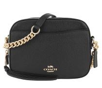 Umhängetasche Polished Pebble Leather Camera Bag Black schwarz