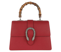 Dionysus Medium Top Handle Bag Hibiscus Red