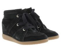 Bobby Sneakers Velvet Stainer Basket Faded Black Sneakers