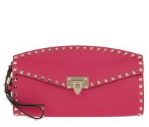 Clutch Valentino Clutch Leather Disco Pink pink