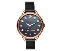 Ladies Betty Patent Strap Watch Black Armbanduhr