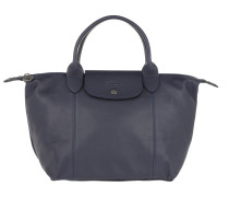 Tote Le Pliage S Leather Navy marine