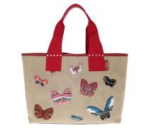 Rockstud Shoulder Bag 1 Duna/Rosso