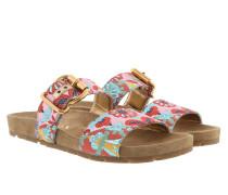 Lurex Fabric Sandals Amarena/Multi Sandalen