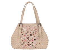 Tote Intrecciato Meadow Flower Small Cesta Bag Mink beige