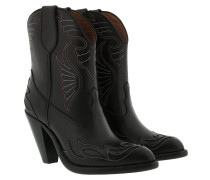 Cowboy Ankle Boots Leather Black Schuhe