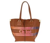 Tote Chloé Logo Tote Leather Caramel braun