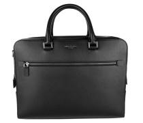Harrison LG Double Gusset Briefcase Black Herrentasche