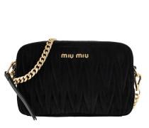 Matelassé Shoulder Bag Velvet Black Tasche